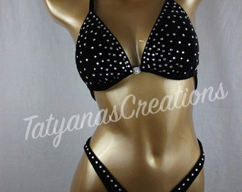 In Stock : Black Velvet Figure suit D cup, Small bottom.