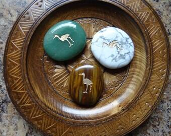 CRANE Gemstone Animal Spirit Totem for Spiritual Jewelry or Crafts