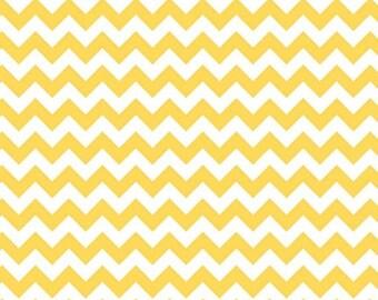 ON SALE Chevron Fabric by the yard Riley Blake Small Chevron in Yellow