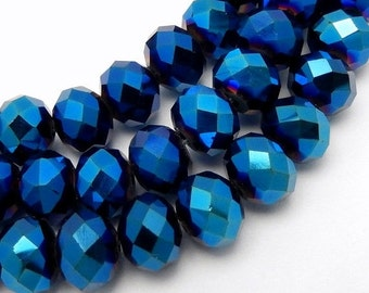 10% off Halloween SALE Chinese Crystal Beads - 7mm Mystic Blue Chinese Crystal Beads - 1 STRAND (S70B3b-04)