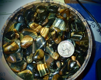 Golden Tigereye Tumbled Polished Stones  20 pieces
