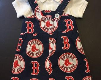 MLB Red Sox Baby Infant Toddler Boys Jumper Romper Overalls   You Pick Size
