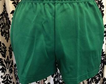 Glorious Green Vintage Gym Shorts