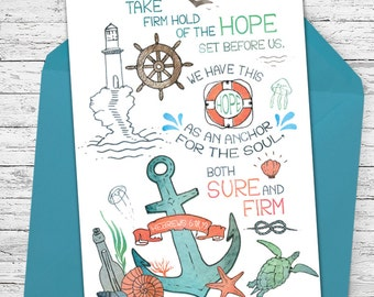 Anchor of Hope - Encouraging Greeting Card