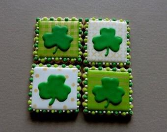 Shamrock Cookies - St. Patricks Day cookies - Irish cookies (#2218)