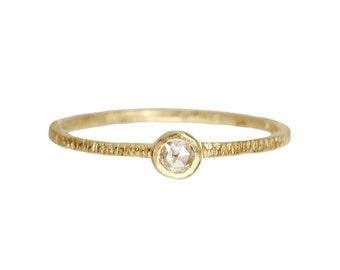 Bark ring. A simple engagement ring. 18k Thomas
