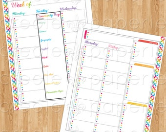 CC Foundations & Essentials/Tuesday Community Day Editable Printable Traditional BLANK Multi-Subject Homeschool Planner 2017-2018
