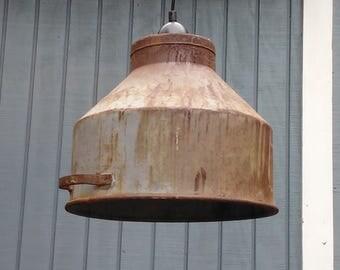 Milk Strainer Pendant Light - Industrial Light - Farmhouse Light - Cream Seperator
