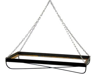 SALE: Large Steel Rectangular Chandelier | Floral Wedding Chandelier | Industrial Wedding Decor | Hanging Floating Table Chandelier