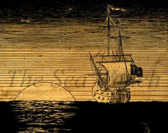 The Queen Anne's Revenge art print 12 x 12