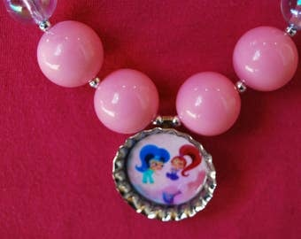 Girls Chunky Shimmer and Shine Necklace