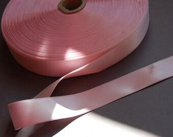 """5yds - 1"""" Pale Pink DF Satin Ribbon"""