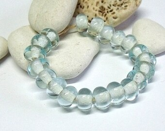 Sea Ice, Lampwork Spacer Beads, SRA, UK