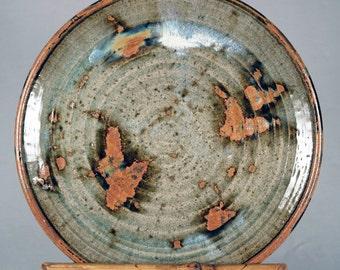 Vintage studio pottery, large plate, platter, serving tray, charger, mingei, older Betsy Bryant?