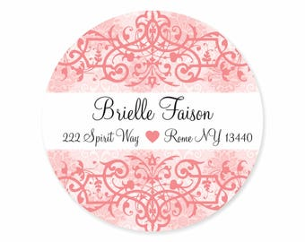 Pretty In Pink Personalized Address Labels Stickers