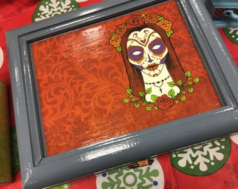 Day of the Dead Upcycled Jewelry Box