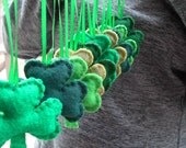 SHAMROCK Ornaments 10 pc St Patricks day Handmade Set of 10  Bowl fillers  Irish w storage bag