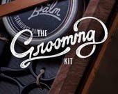 BEARD GROOMING KIT - Beard Brush, Beard Oil, Beard Balm, Beard Comb