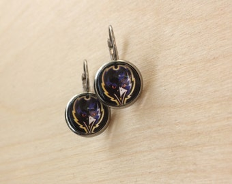 Baltimore Ravens Inspired Stud Earrings