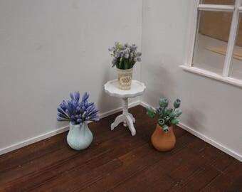Dollhouse pots 3 pcs 1:12 scale