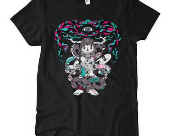 Women's Chaos Theory T-shirt - S M L XL 2x - Ladies' Chaos Tee, Street Art Shirt, Crazy, Madness - 3 Colors