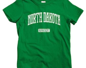 Kids North Dakota Represent T-shirt - Baby, Toddler, and Youth Sizes - North Dakota Kids Tee, Gift, Fargo Kids, Bismarck Kids, ND State