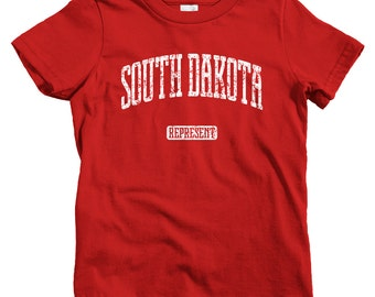 Kids South Dakota Represent T-shirt - Baby, Toddler, and Youth Sizes - Kids Tee, Gift, South Dakota Kids, Sioux Falls, Rapid City, Aberdeen