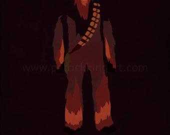 Star Wars The Empire Strikes Back - The Wrathful - Chewbacca Art Print - poster, rebel, wookiee, chewie, star wars, minimalist