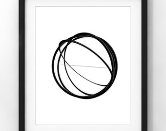 Downloadable Art, Abstract Art, Home Decor, Minimalist Art, Modern Art, Black and White, Printable Download