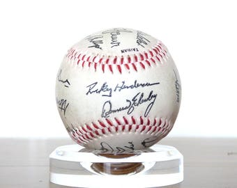 1980s Oakland Athletic's Team Signed Auto Baseball Facsimilie Pre-Printed