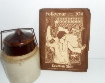 Folkwear Pattern, Vintage Patterns, Egyptian Shirt Pattern, Clothing Patterns