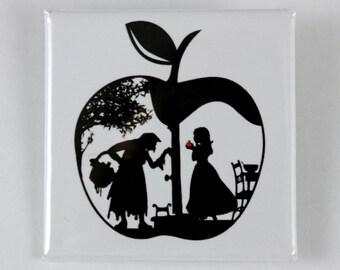 Snow White's Apple 38mm square badge