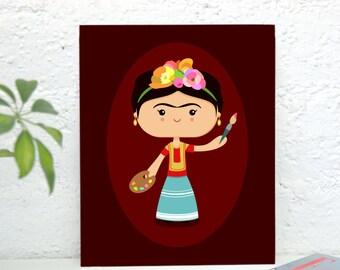Frida Art Print, High Quality Art Poster, Home Decor, Wall Art, Poster Design, Illustration - Frida Kahlo