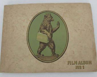 Vintage Josetti Film Album No 1 German 9x12 cigarette card album 1930s contains 272 premium cards