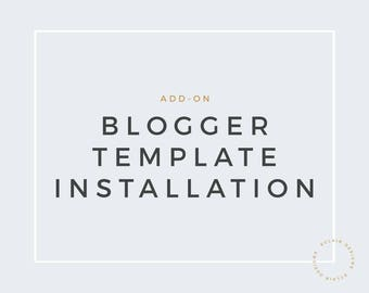 Blogger Template Installation