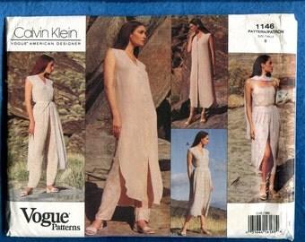 Vogue 1146 Calvin Klein Easy Breezy Resort Wear Pattern Size 8 UNCUT