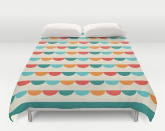 NEW! Funfair Abstract Pattern Duvet Cover, double duvet, queen size duvet cover, retro geometric pattern duvet cover