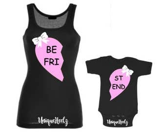 Mommy and Me Matching Shirts! Best Friends - BFF - Girl - Boy - Great for baby showers - Birthday gift - Mothers Day - Vinyl NOT Paint