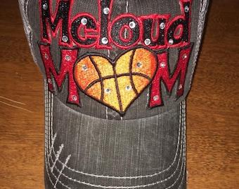 Basketball stitches Heart Hat