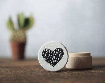 hand painted ring box with heart - wedding ring bearer box - wedding keepsake - engagement box - wedding ring box - habd painted
