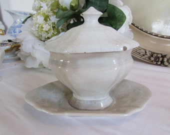 Antique French Mustard Pot c1845