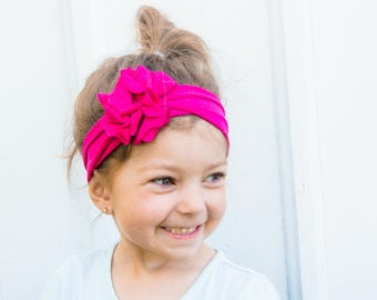 Hot Pink Baby Girl Headband - Hot Pink Nora Headband