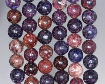 8mm Mauve Lepidolite Gemstone Grade AA Dark Purple Round 8mm Loose Beads 7.5 inch Half Strand (90146598 H-161)