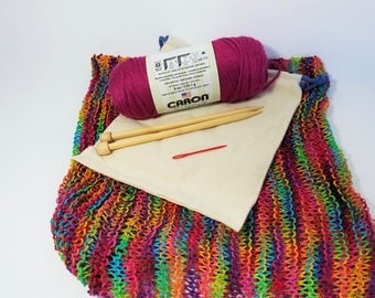 Cowl Knitting Kit Beginner DIY Scarf Kit