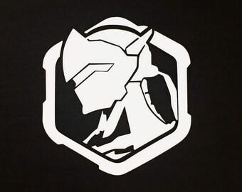 Genji Profile Spray Overwatch Decal | Sticker | Vinyl | Car, Wall, Window or Laptop Decoration | Cute!