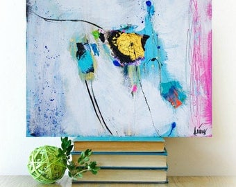 Abstract Contemporary Painting, Original Contemporary art, Modern art painting, Acrylic mixed media, 16x20 canvas, Art by Heroux