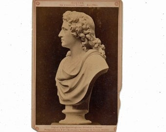 Museum Art cabinet card Goethe by Alexander Trippel 1800s 19th century Grand Tour albumen