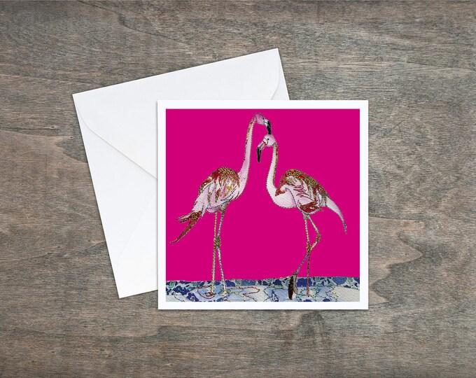 Pink Flamingos - Art Card