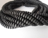 """2 or 4 or 7 Strands Natural Black Lava Half - Round 10mm Beads - Full 16"""" Strand - Liqudation / Close Out Prices / Whole Lots Only"""