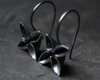 Bloom Earrings in Oxidized Sterling Silver